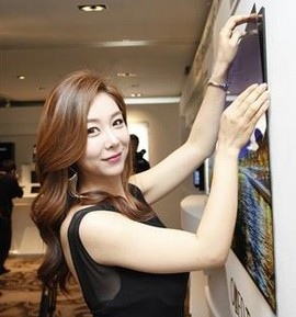 Дисплеят може да се закрепи към магнитна подложка на стена (снимка: LG Display)