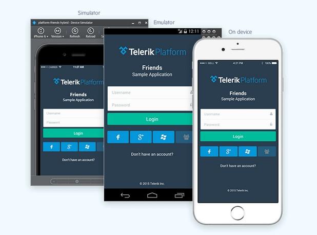 Разработчици и бизнес потребители могат да създават мобилни приложения писане на допълнителен код, благодарение на Telerik Platform