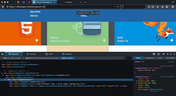 Firefox Edition Developer 40 дава на програмистите специални инструменти, с които по-лесно да проверяват функционалността на своите разработки