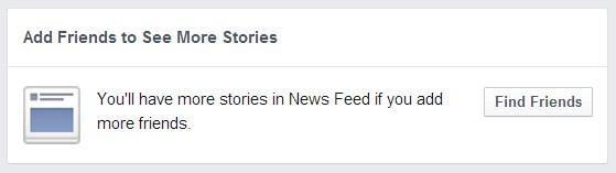 Facebook подканя потребителите да търсят нови приятели, ако искат да виждат повече истории