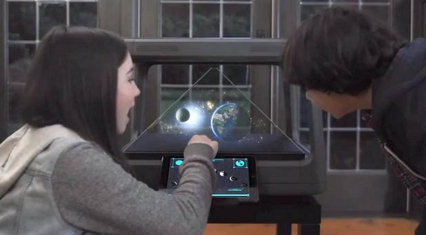 Холографска настолна платформа Holus е замислена като развлекателна система