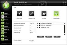 Amiti Antivirus е интуитивна програма за проверка и изчистване от вируси
