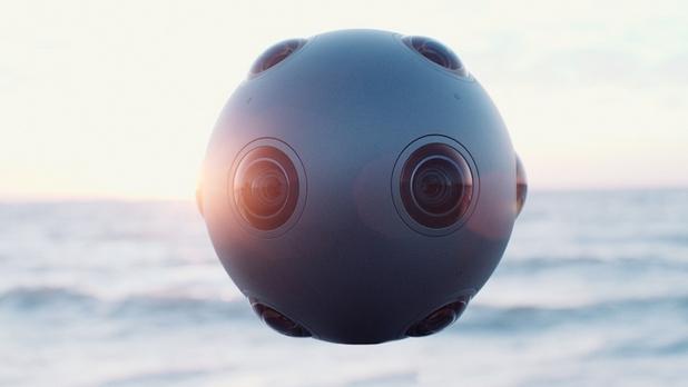 OZO има формата на сфера, на повърхността на която са разположени  оптични сензори и микрофони