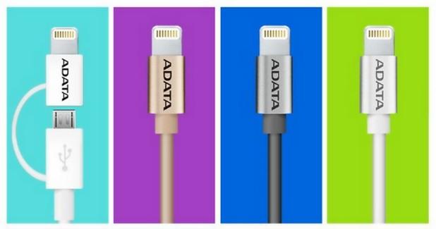 Новите Sync & Charge Lightning кабели на Adata се доставят в широко разнообразие от цветове