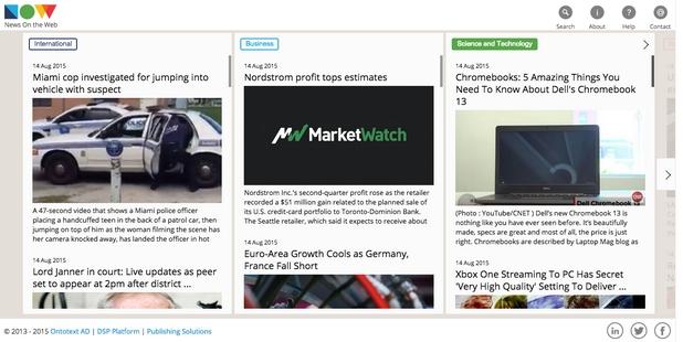 Технологията NOW помага на читателите бързо да отсеят интересните им теми в постоянния поток от новини в интернет
