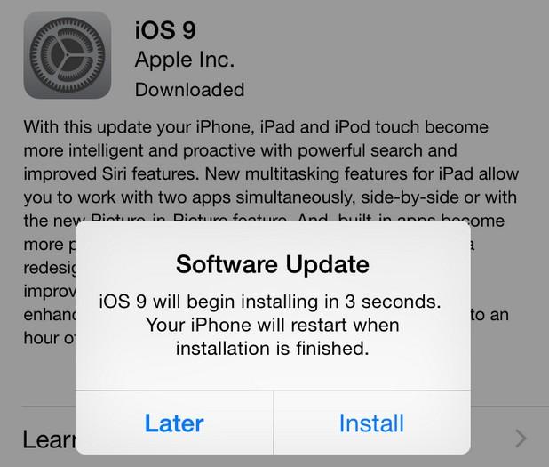 На пръв поглед всичко е наред с инсталацията на iOS 9, но в някои случаи iPhone 5 блокира, алармират потребители