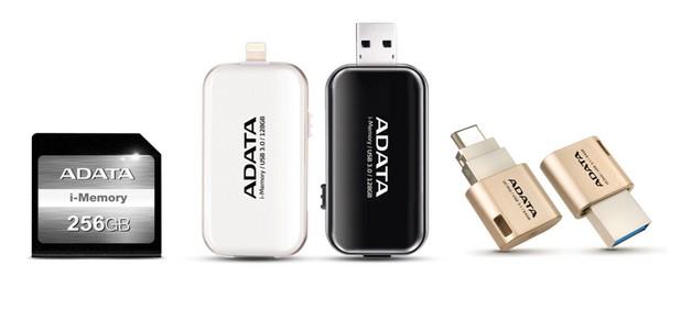Apple-серията продукти на ADATA включва i-Memory SD карта-памет, i-Memory UE710 флаш-модул и UC350 Type-C OTG флаш-модул с двоен конектор