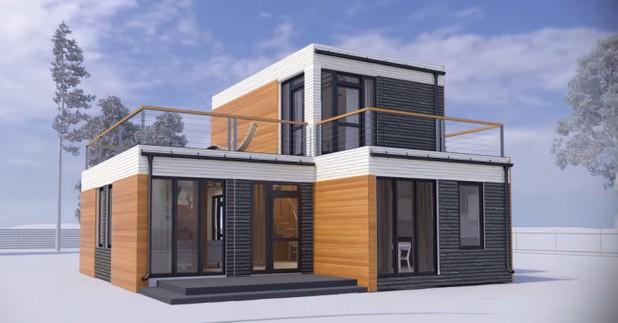 Така изглежда къщата, отпечатана на 3D принтер, от китайската компания