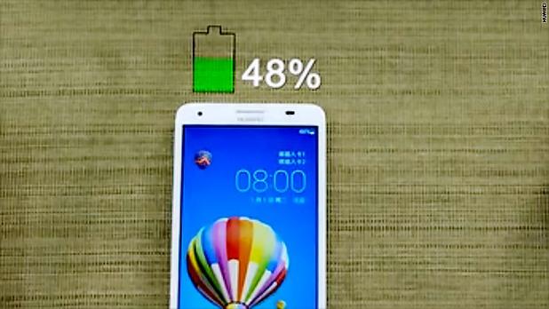 Батерия с капацитет 600 мАч се зарежда до 48% само за две минути с нова технология на Huawei