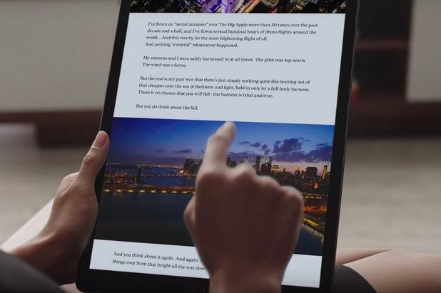 Проблем с неясен произход се проявява в някои случаи след зареждане на iPad Pro от електрическата мрежа