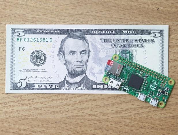 Миниатюрният компютър Raspberry Pi Zero струва само 5 долара