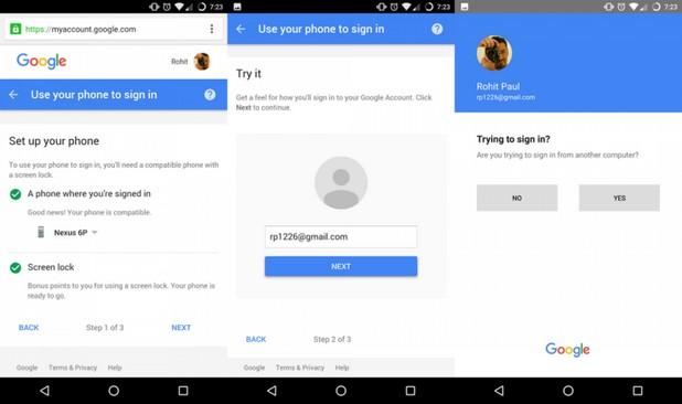 Потребителите на Google ще могат да влизат в своите акаунти без парола, с помощта на известия по смартфона