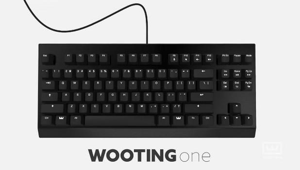 Клавиатурата Wooting One се отличава от останалите по това, че е аналогова – тя позволява управление на игрите чрез силата на натиск върху клавиша