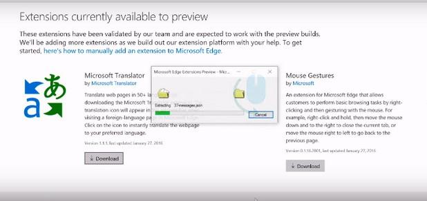 Браузърът Edge най-сетне предложи възможност за инсталиране на разширения