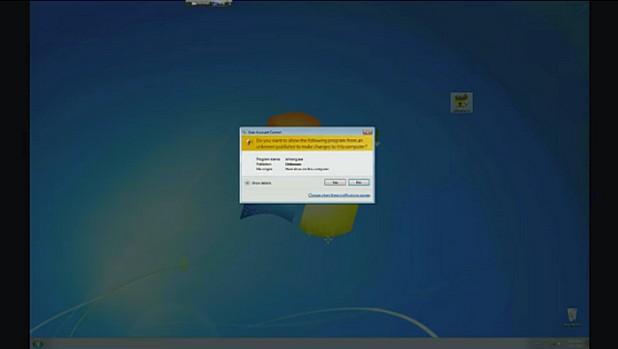 Когато проникне в компютъра, вирусът Петя го рестартира и криптира целия твърд диск