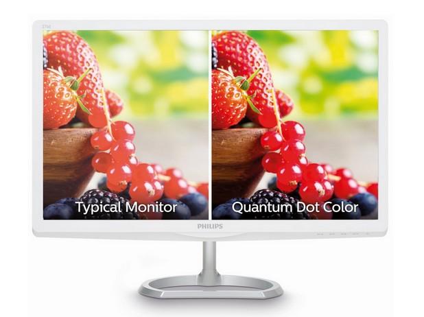 Технологията Quantum Dot Color възпроизвежда с над 30% повече цветове в сравнение с традиционните sRGB LED монитори