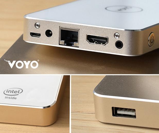 VOYO V2 TV Box предоставя необходимите портове за пълноценна работа - HDMI, Ethernet, micro USB, USB, аудио