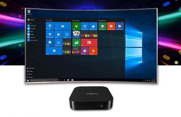 Wintel Pro CX-W8 TV Box се свързва към HDMI порта на телевизора, за да осигури достъп до офис приложения и всевъзможни онлайн развлечения