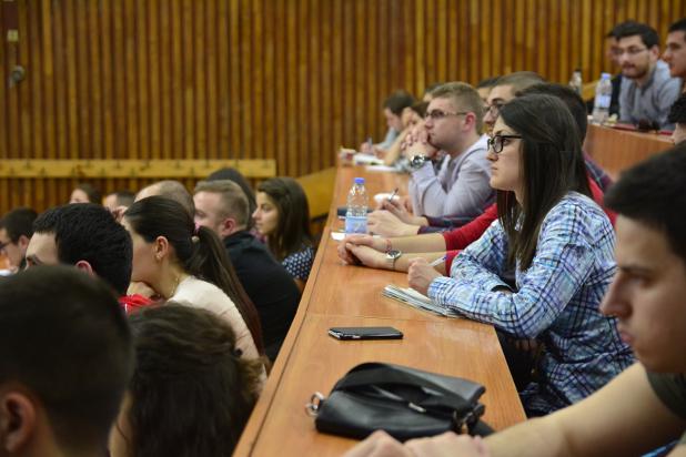Лекцията за бизнес софтуер на ERP Academy привлече над 150 студенти в Бизнес Клуб на УНСС