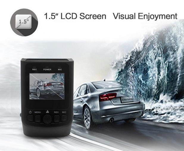 A118C Car DVR работи в температурния диапазон от 10 до 60 градуса по Целзий