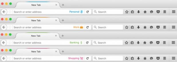 Contextual Identities дава възможност на потребителите да пишат едновременно от корпоративни и лични акаунти в социални мрежи