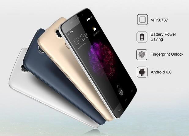 Homtom HT17 е първият смартфон с четириядрен процесор MTK6737, който е с 20% по-бърз от своя предшественик MTK6735