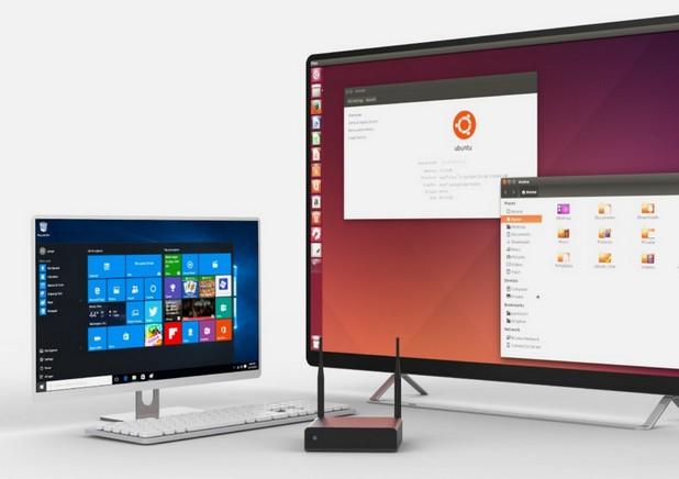 MeLE PCG61 се ползва еднакво успешно като компютър под Windows 10 или Ubuntu