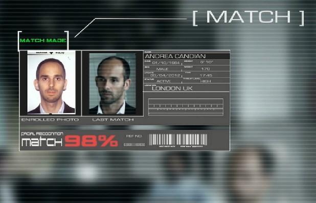 Биометричната проверка се извършва с алгоритъм за разпознаване на лица NeoFace