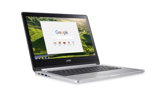 Acer Chromebook R 13 е оборудван със сензорен IPS екран с резолюция Full HD 1920х1080 пиксела