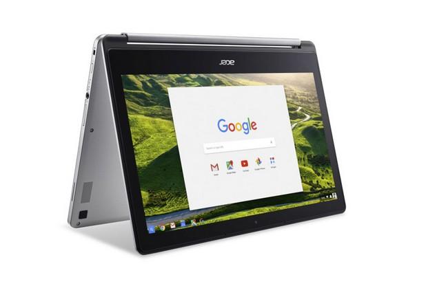 Екранът на Acer Chromebook R 13 може да се разгъва под ъгъл почти 360 градуса