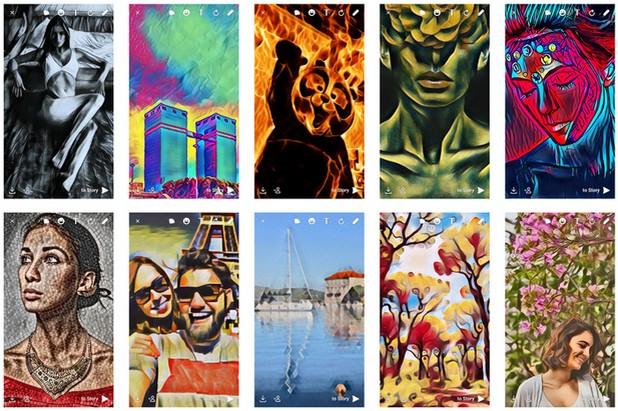 В новата версия на ICQ за Android са налични 20 опции за обработка на изображения в реално време