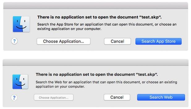 Mac File Opener се активира при опит за отваряне на файл, за който не е зададено приложение по подразбиране
