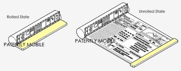 В арсенала от патенти на Apple присъстват редица технологии с гъвкави дисплеи (източник: Patently Mobile)