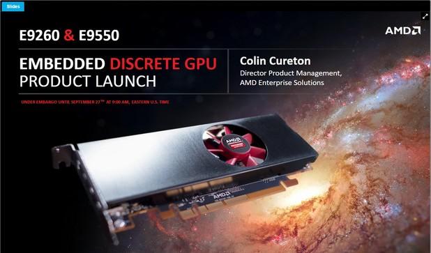 Две нови видеокарти на AMD за вградени решения използват ядра Polaris 10 и 11