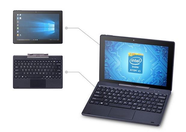 PIPO W1S Tablet PC се явява компактен ноутбук, чиято клавиатура може да се присъединява и откача, за да се ползва и като таблет