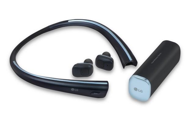 Безжичните слушалки Tone Free могат да се зареждат, докато са в поставката за врата