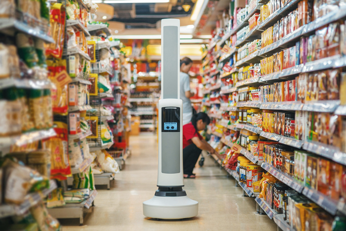 Tally е първият в света автономен робот, способен да се придвижва в магазина и да върши своята работа безпроблемно, наред с клиентите и продавачите