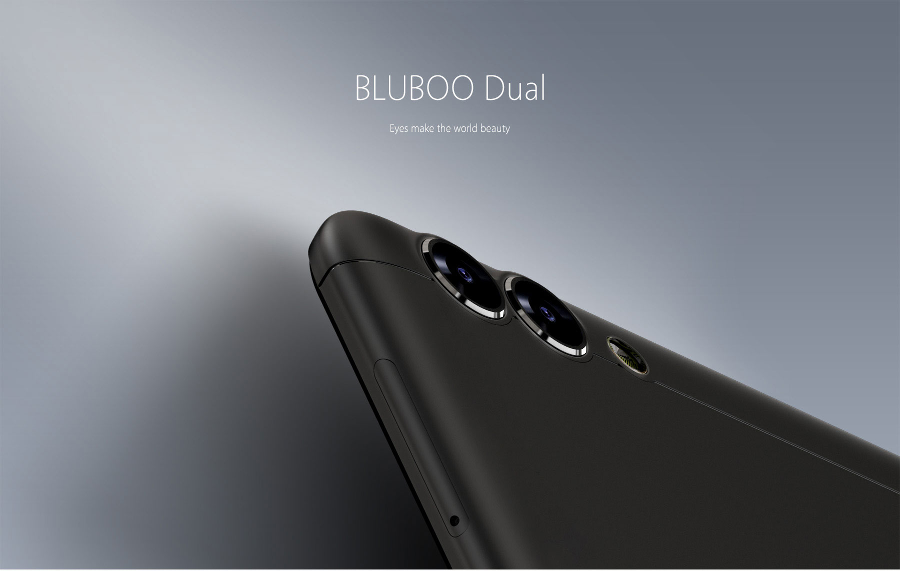 Bluboo Dual 4G Phablet носи на гърба си двойна основна камера - 13MP плюс 2MB