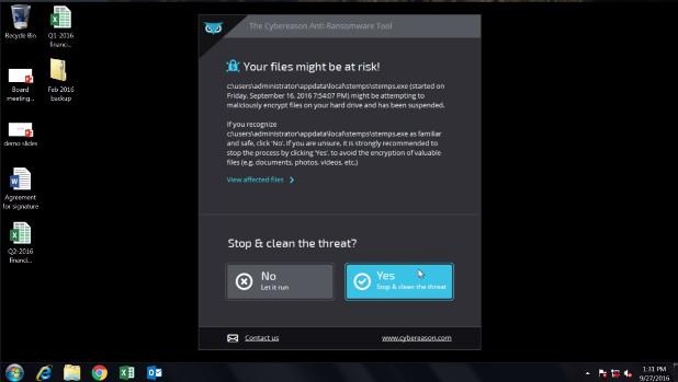 Cybereason RansomFree претендира за защита в реално време от вируси-изнудвачи