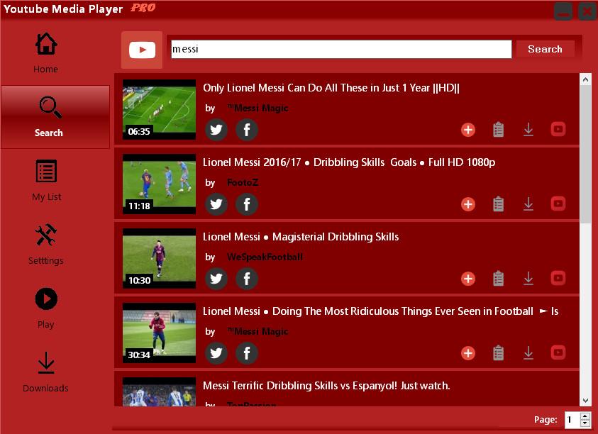 Интерфейсът на Youtube Media Player прави приложението лесно за използване и от начинаещи потребители