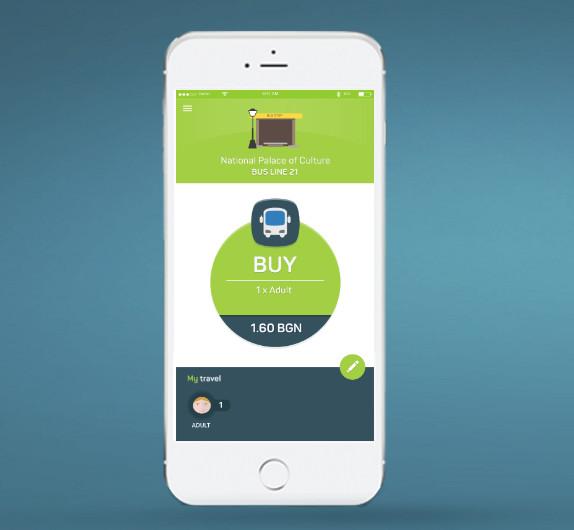 Мобилното приложение, разработено от Tickey, се интегрира с iBeacon сензори, поставени в пропусквателните устройства на метростанциите